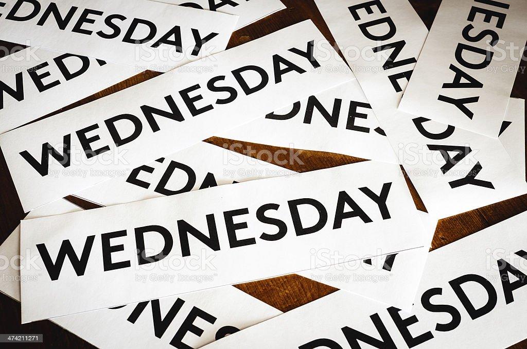 Wednesday texture background stock photo