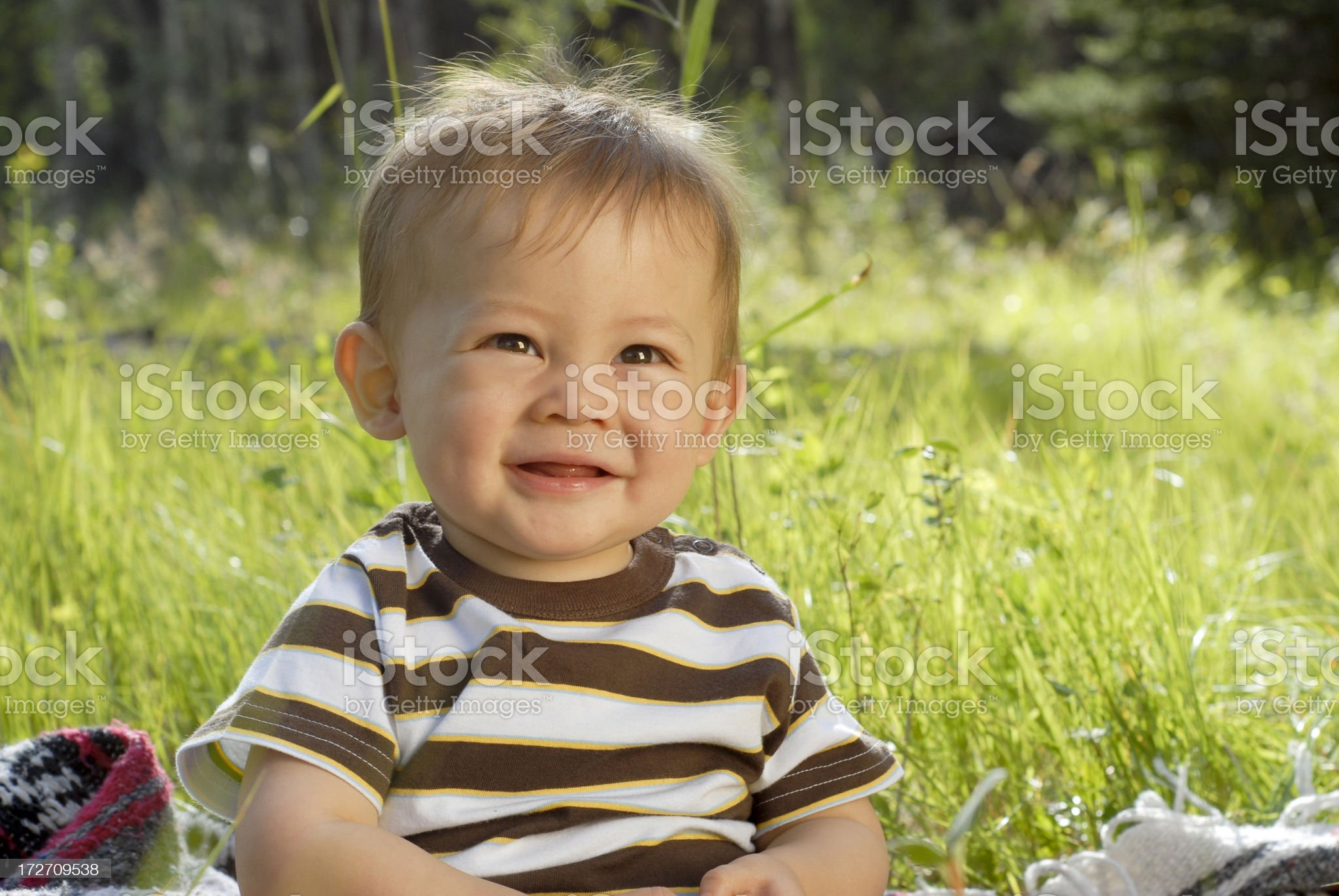 Wee Happy Lad royalty-free stock photo