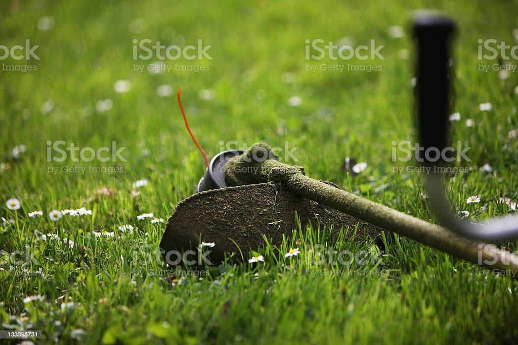 Weed Trimmer royalty-free stock photo