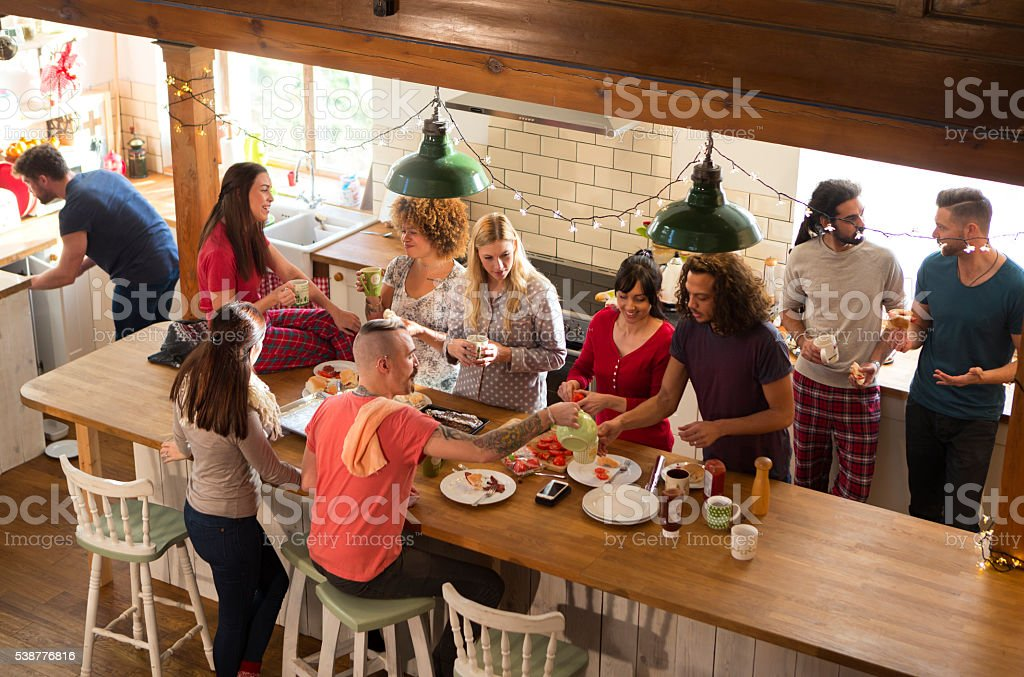 Weekend Away with Friends stock photo