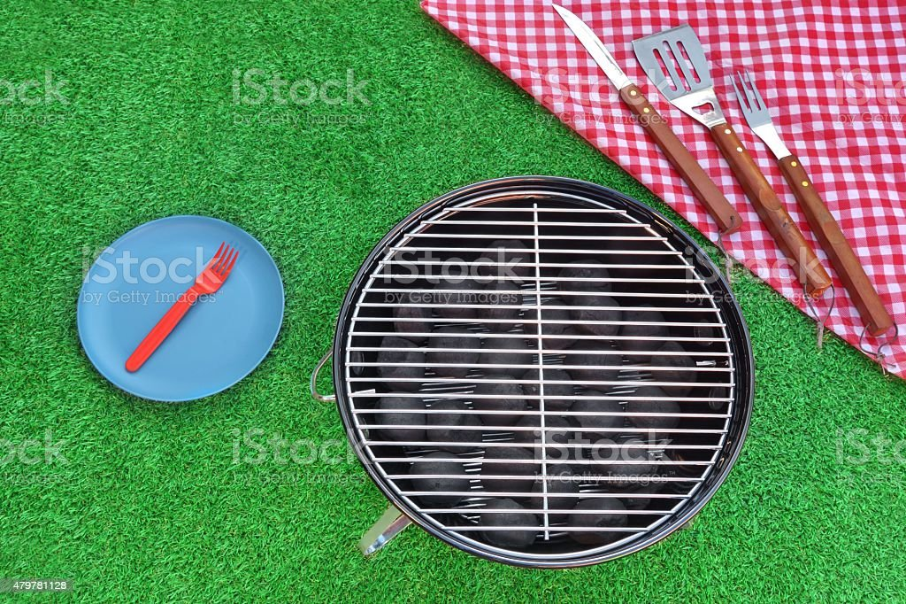 Weekend BBQ Grill Picnic Concept stock photo