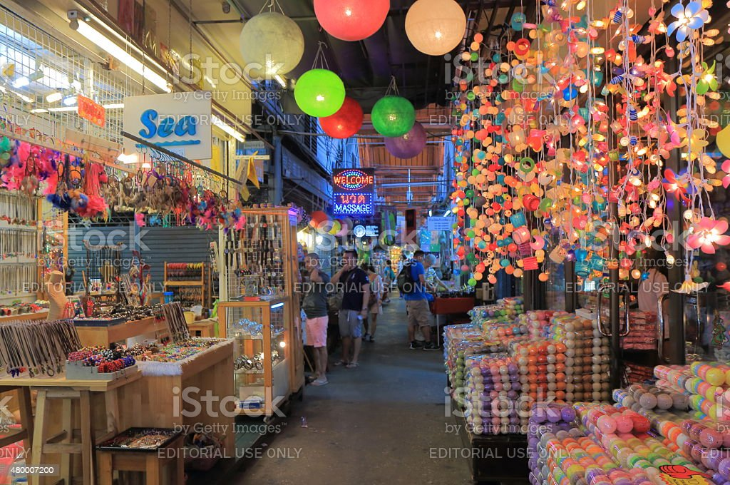 Weekend market Bangkok stock photo