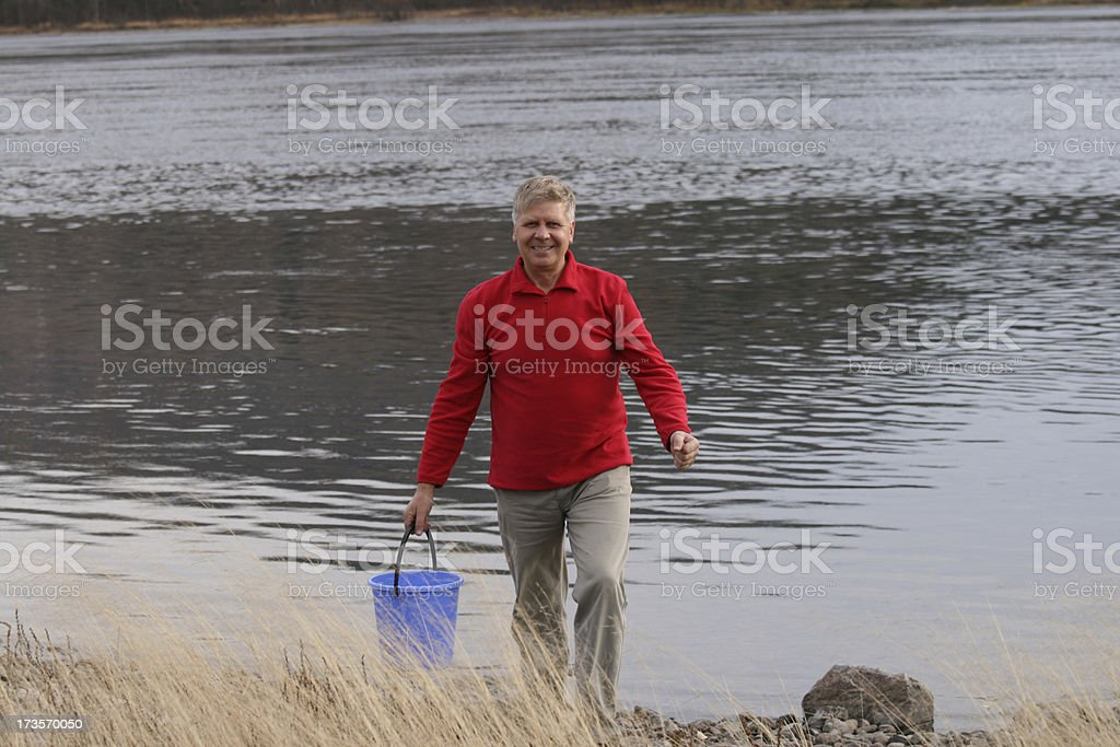 Weekend on river royalty-free stock photo