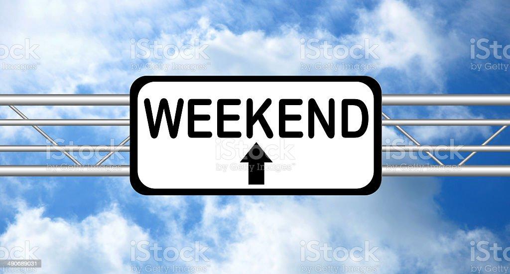 Weekend stock photo