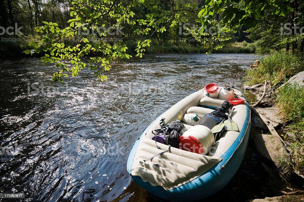 Weekend Rafting royalty-free stock photo