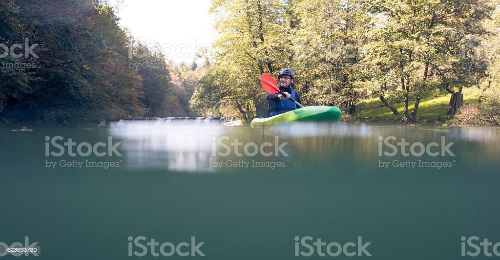 Weekends are all about kayaking! stock photo