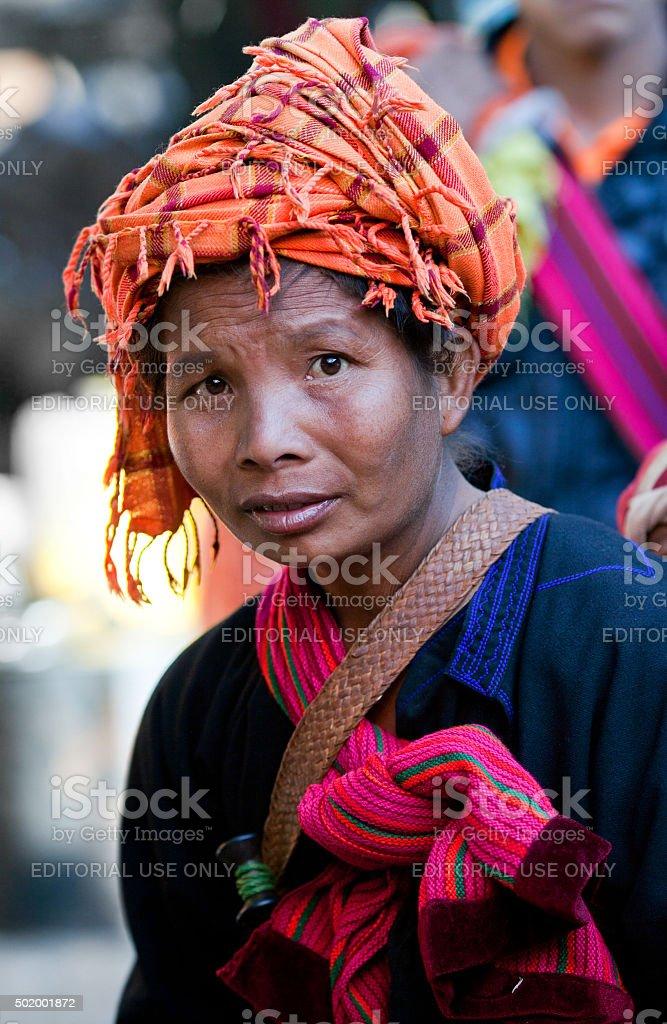Weekly Market in Shan State, Myanmar stock photo
