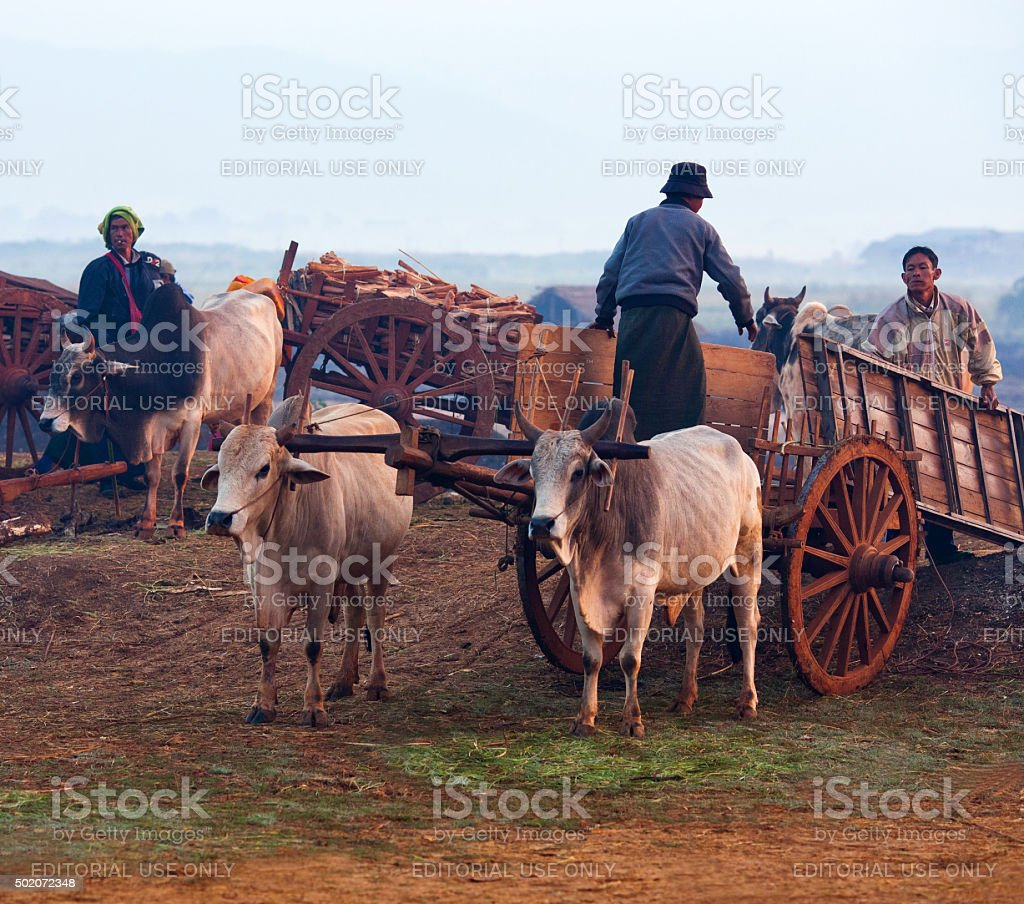 Weekly Market in Shan state, Myanmar stock photo
