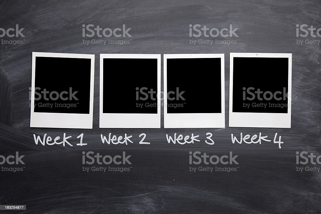 Weekly photo series royalty-free stock photo