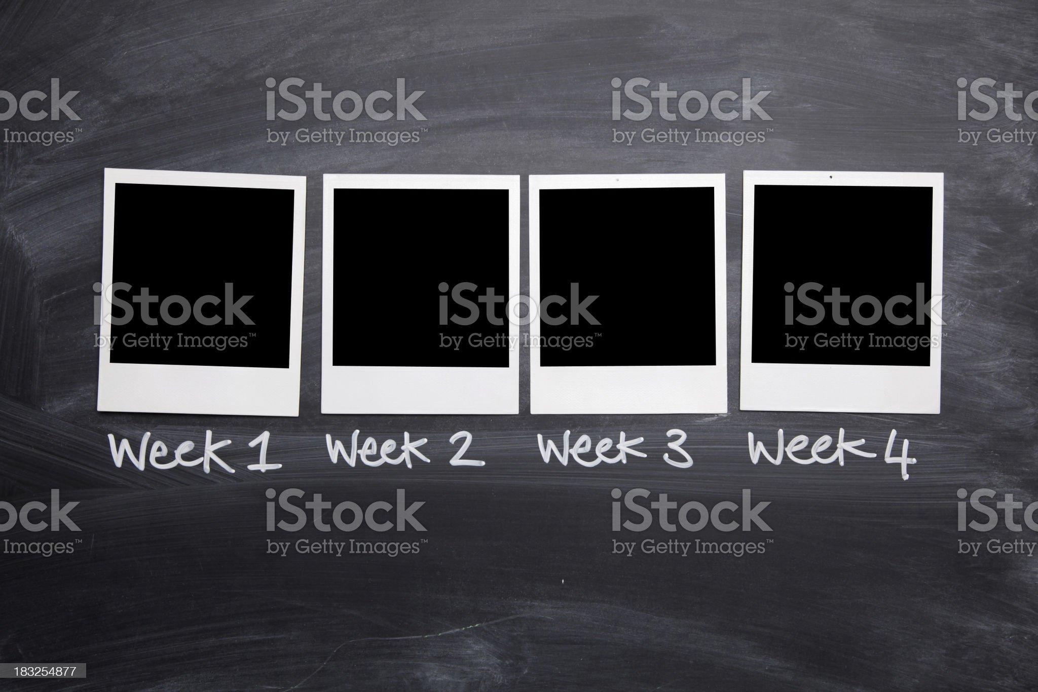 Weekly photo series royalty-free stock photo