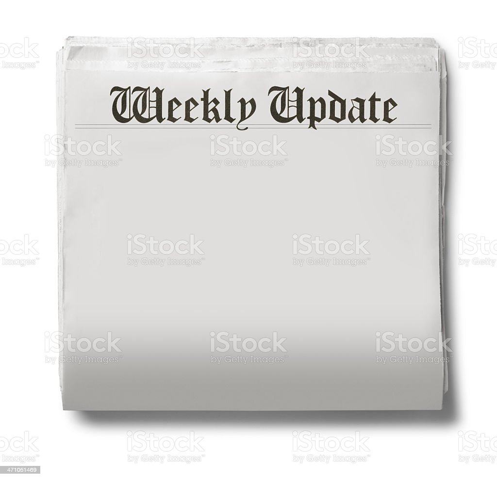 Weekly Update royalty-free stock photo