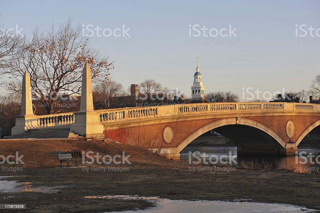 Weeks Memorial Bridge, Harvard royalty-free stock photo