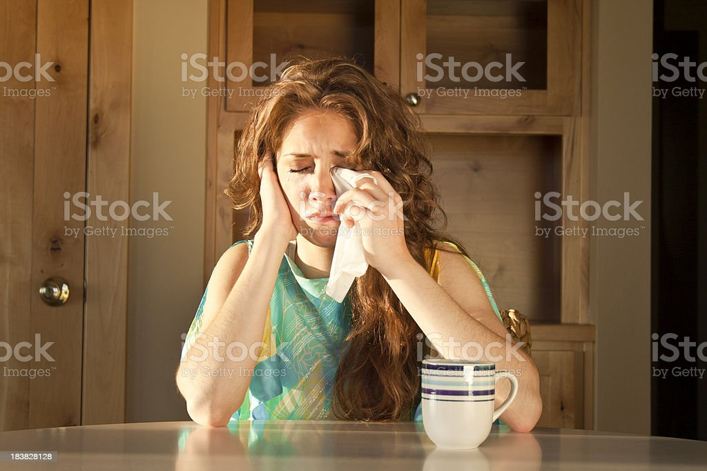 Weeping Woman royalty-free stock photo