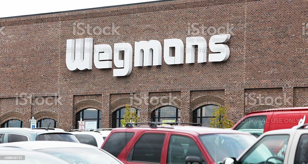 Wegmans Food Markets Storefront Logo Sign stock photo