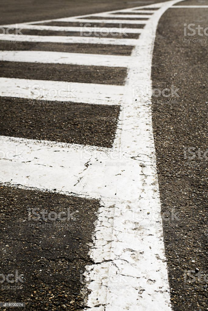 Wegmarkering abstract stock photo