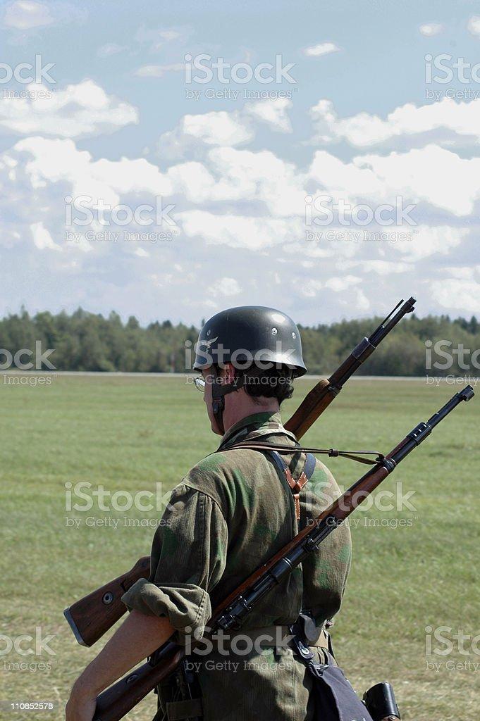 Wehrmacht soldier stock photo