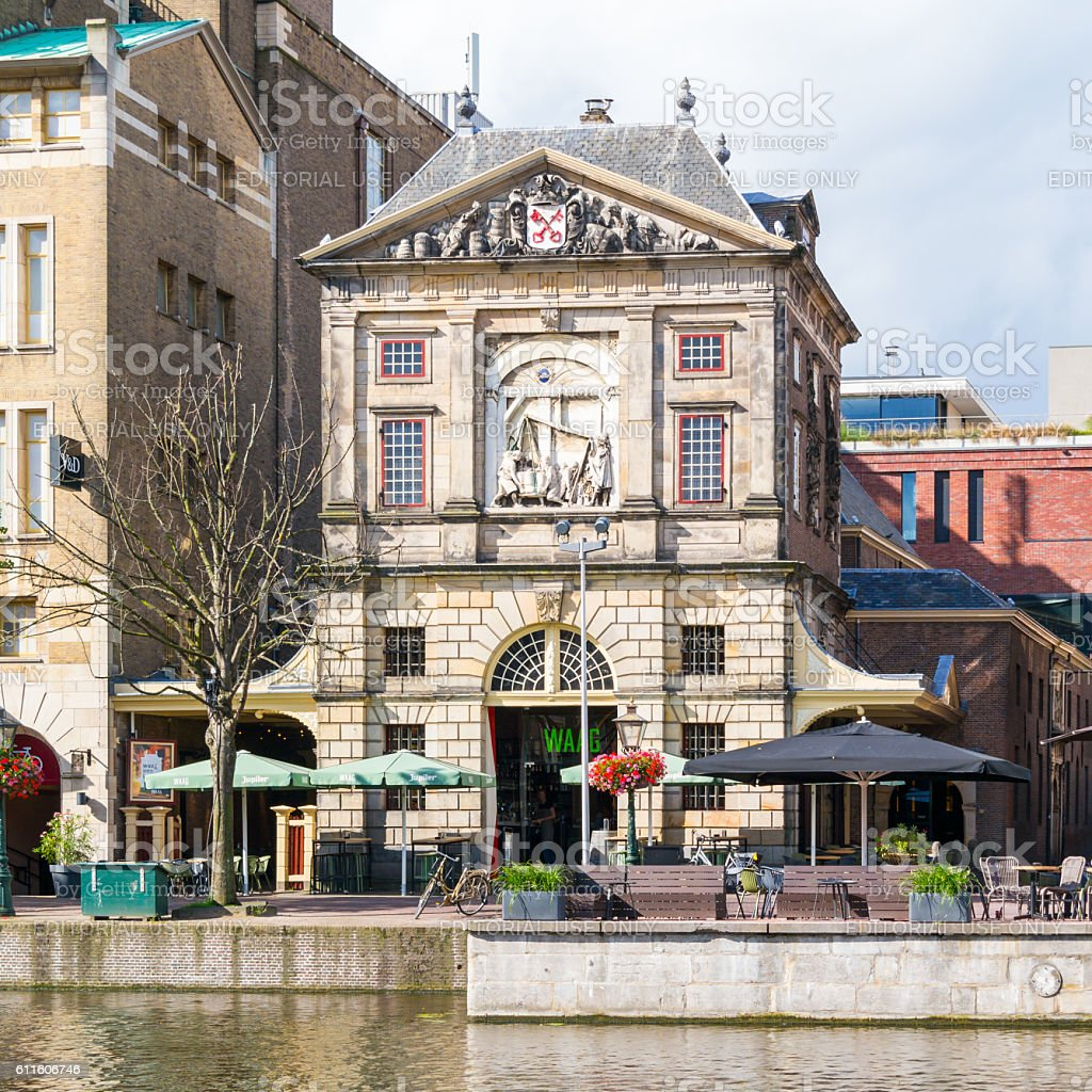 Weigh house in Leiden, Netherlands stock photo