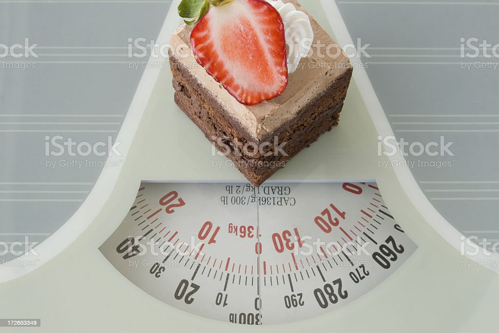 Weigh it up stock photo