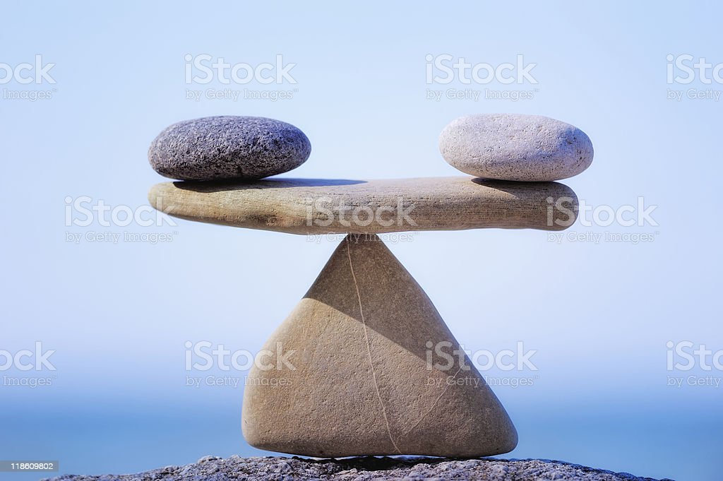 Weigh stock photo