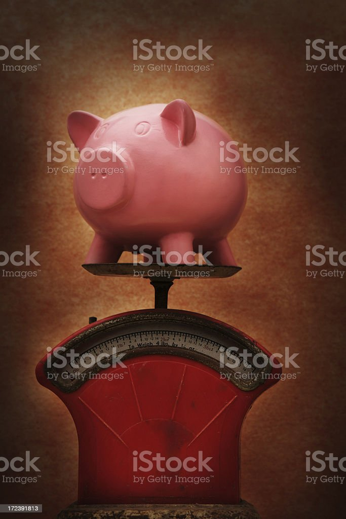 Weigh the Savings royalty-free stock photo