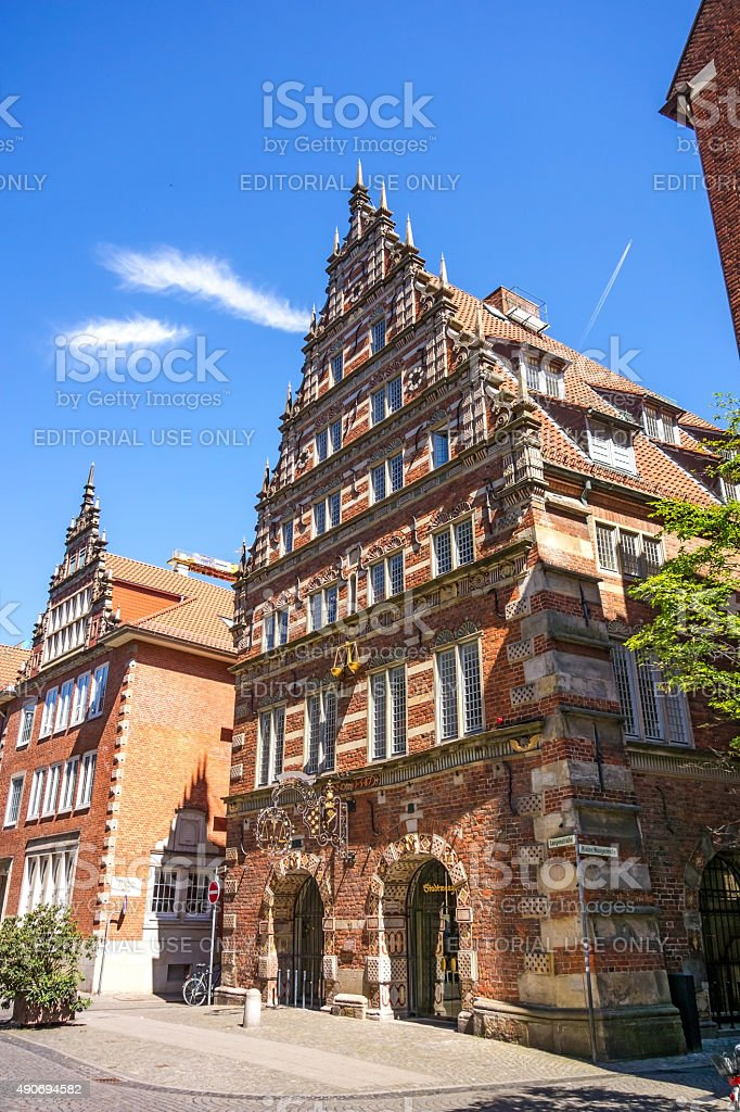 Weighing house / Stadtwaage Bremen stock photo