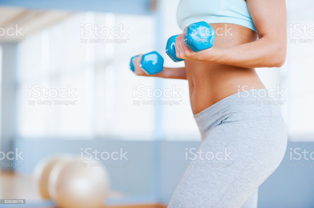 Weight exercise. stock photo