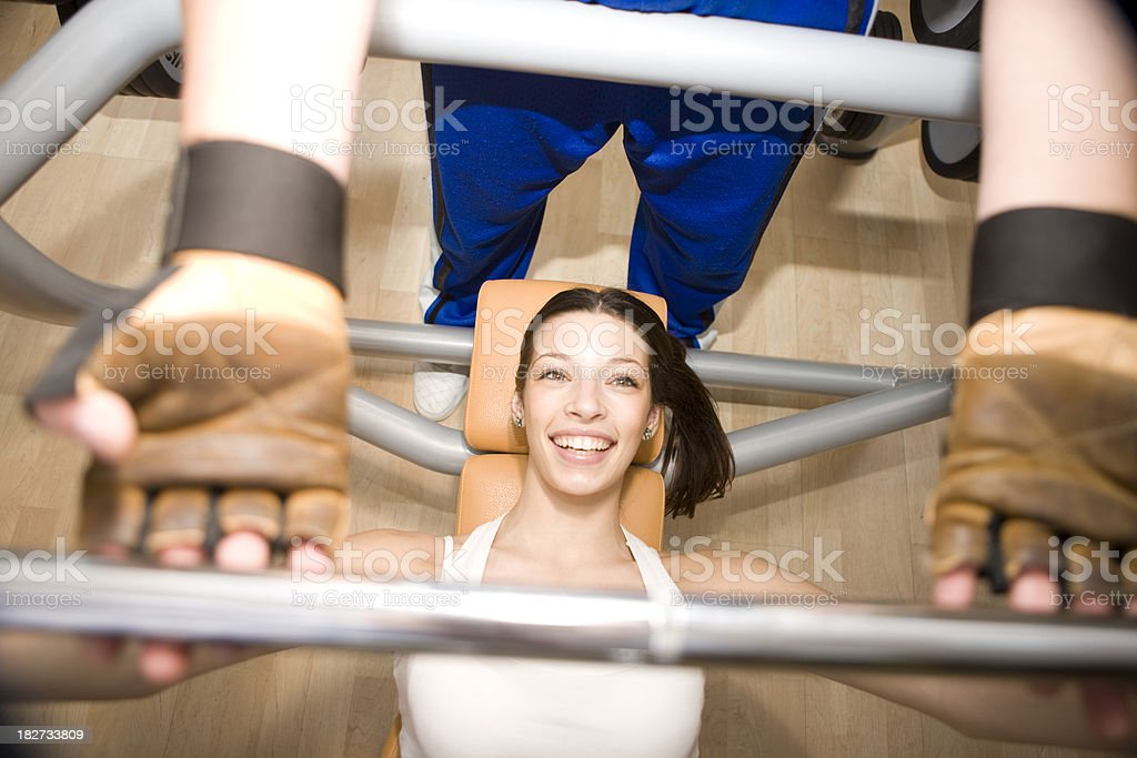 Weight liffting royalty-free stock photo