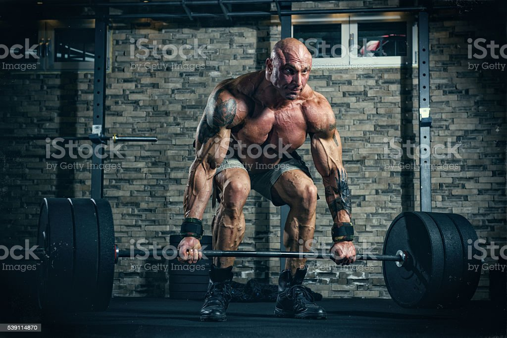 Weight Lifting, Dead Lift stock photo