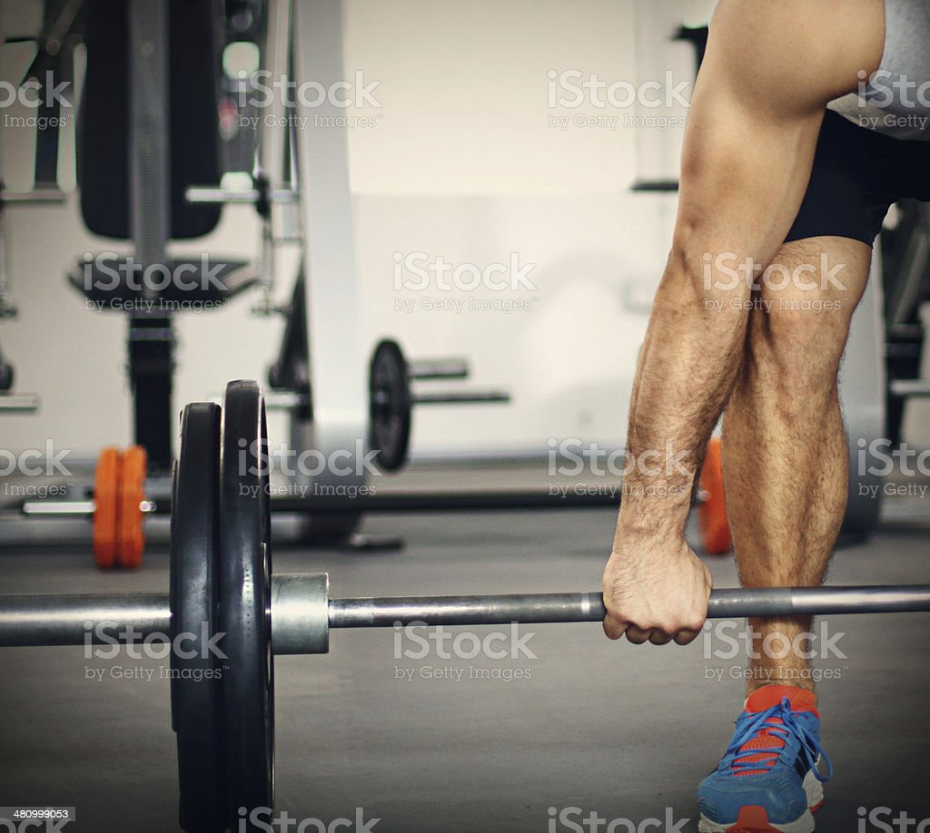 Weight lifting. stock photo