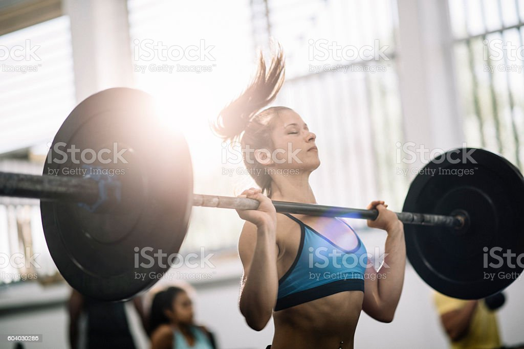 Weight lifting stock photo