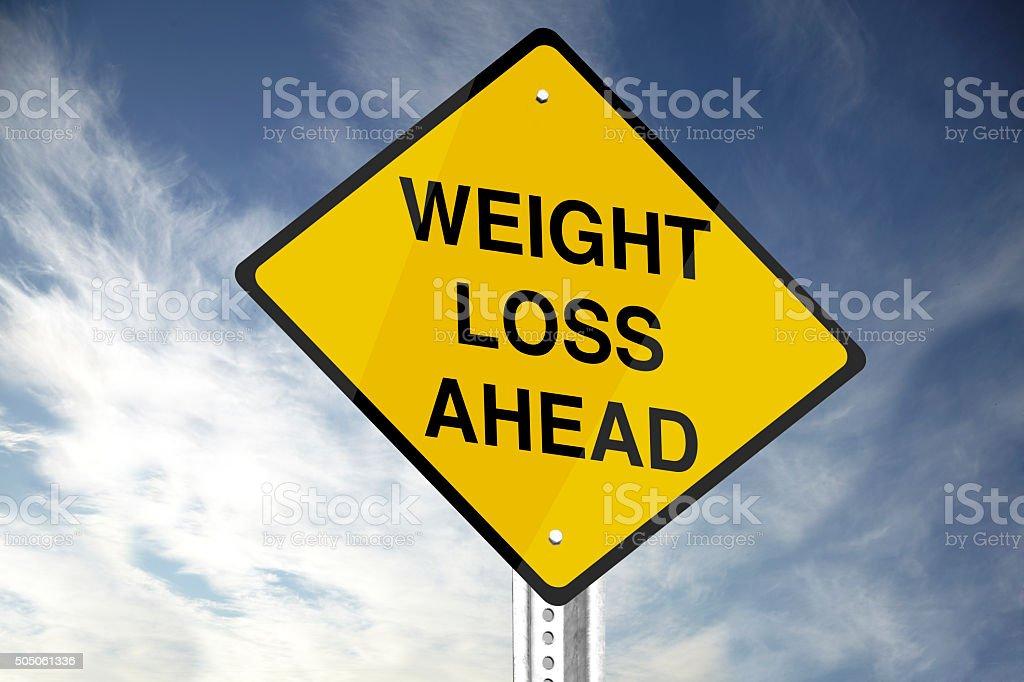 Weight Loss Ahead stock photo