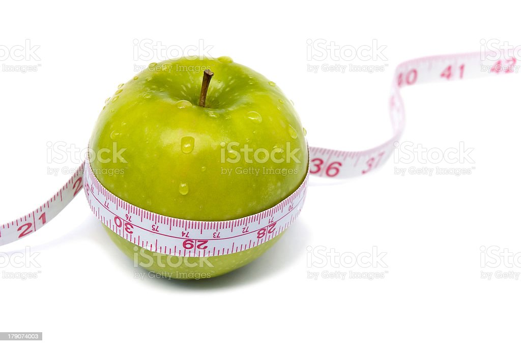 Weight loss and healthy dieting royalty-free stock photo