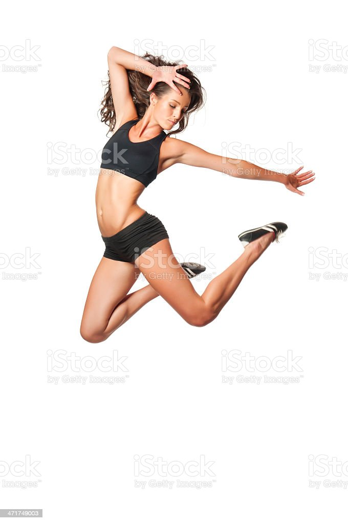 Weight loss concept - dancer. royalty-free stock photo