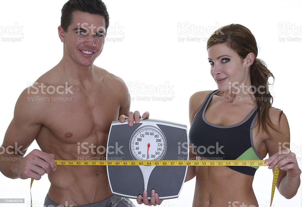 weight loss couple royalty-free stock photo
