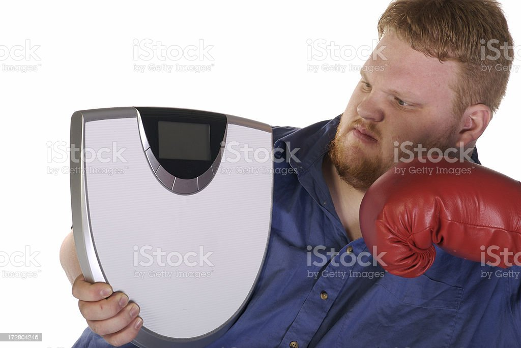 Weight Loss Fighter stock photo