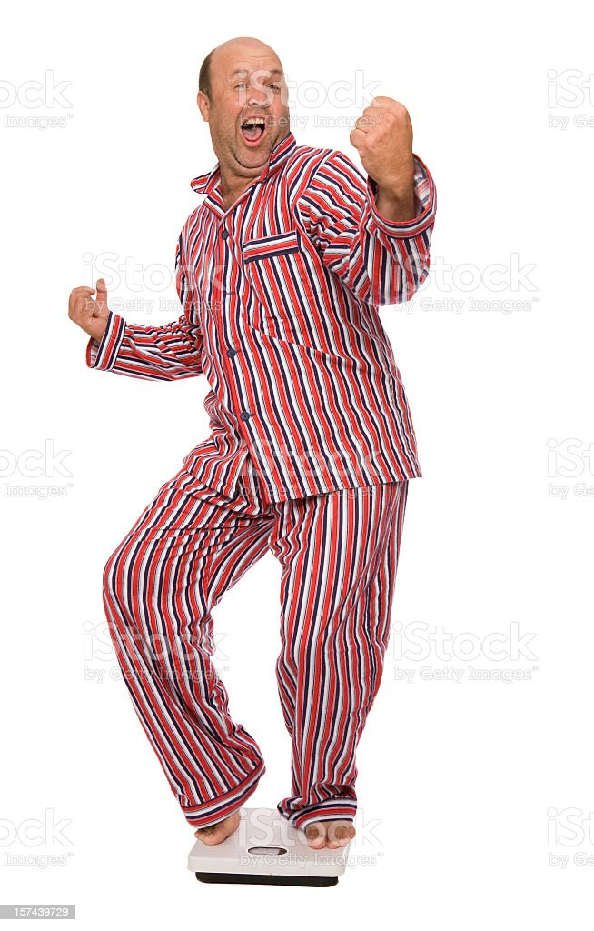 Weight Loss Happy Dance stock photo