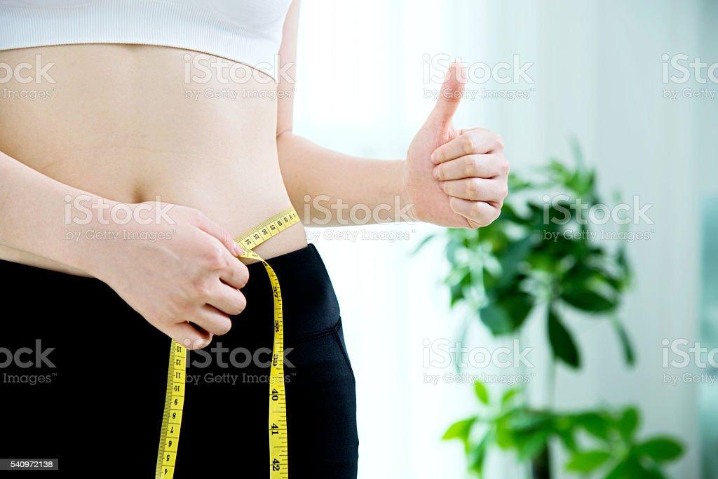 Weight loss success stock photo