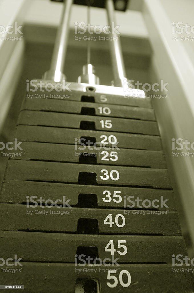 Weight machine royalty-free stock photo