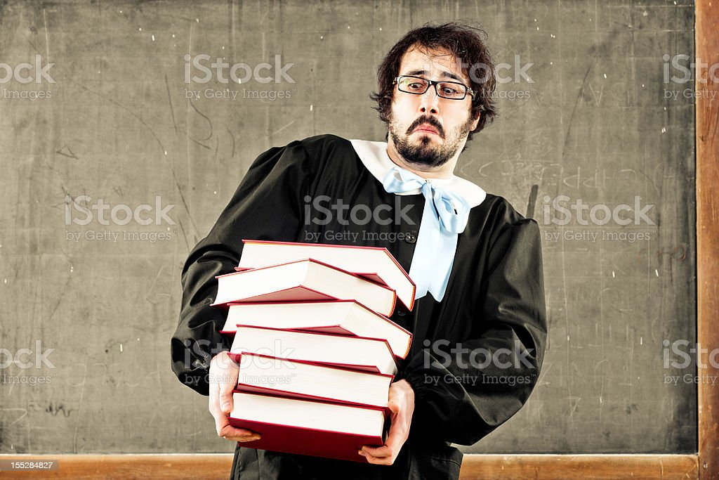 Weight of a knowledge royalty-free stock photo