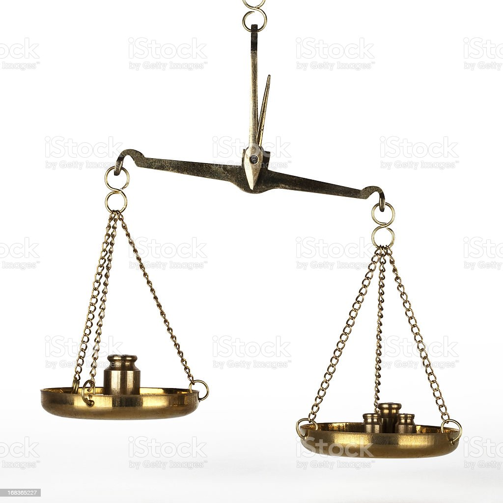 Weight of scale stock photo
