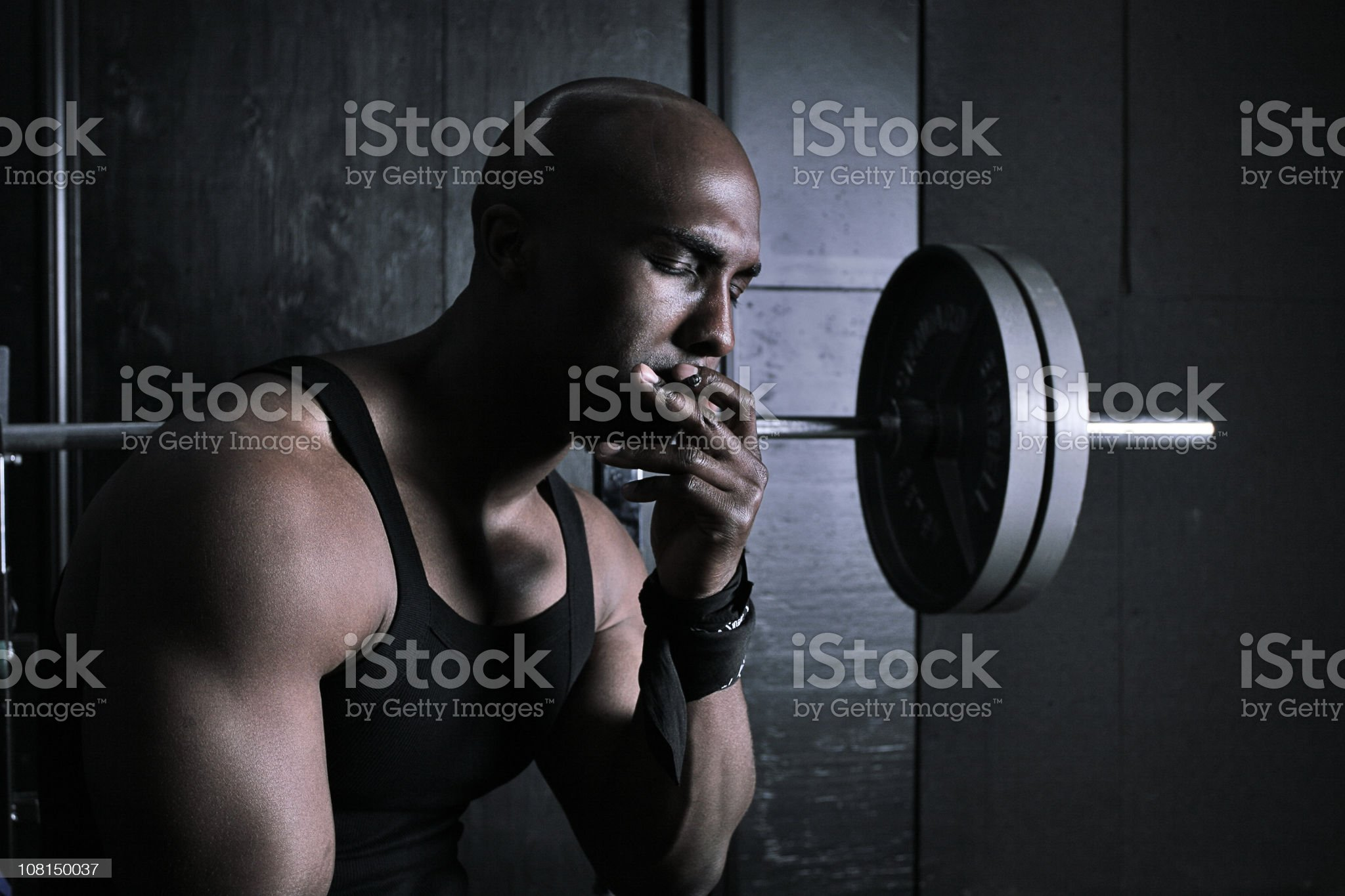 Weight on my back royalty-free stock photo