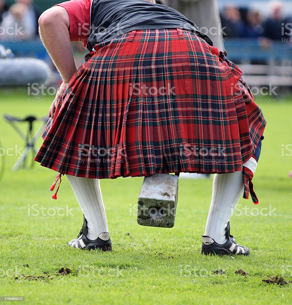 Weight over the bar - Highland Games stock photo