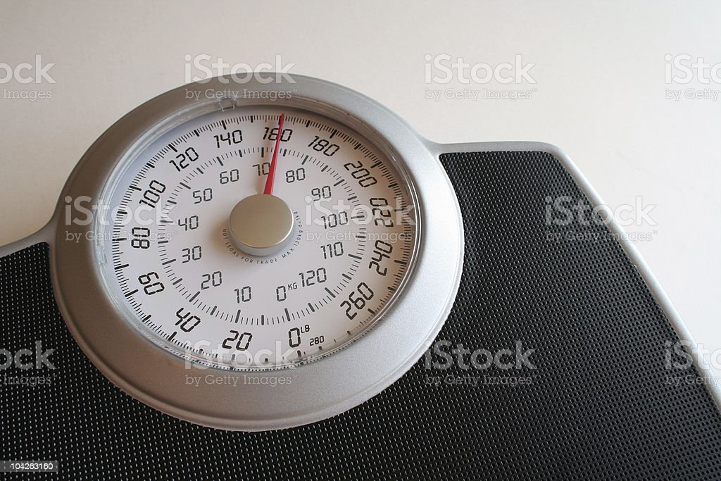 Weight Scale 161 royalty-free stock photo