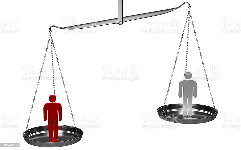 Weight Scale Concepts: Individuality stock photo