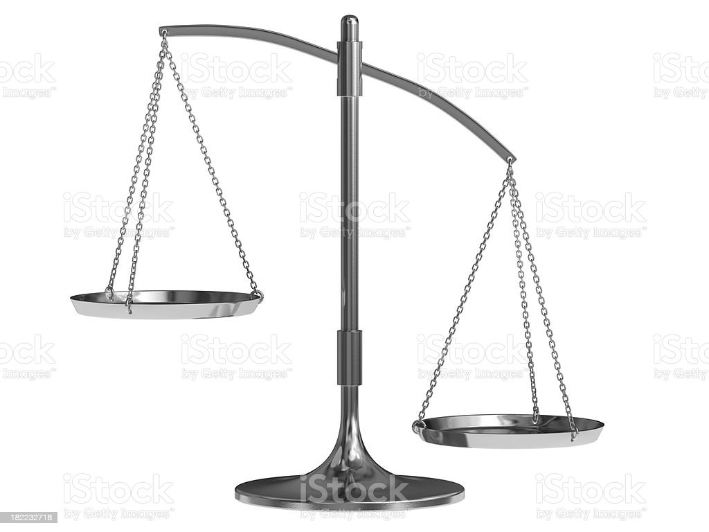 Weight Scale Imbalanced royalty-free stock photo