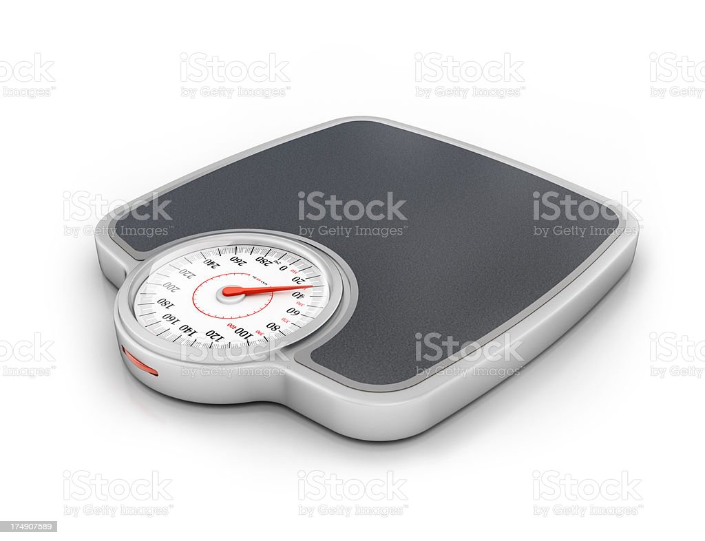 weight scale isolated royalty-free stock photo