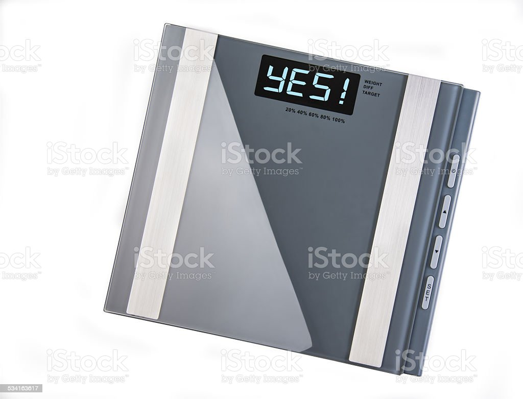 Weight Scale Message stock photo