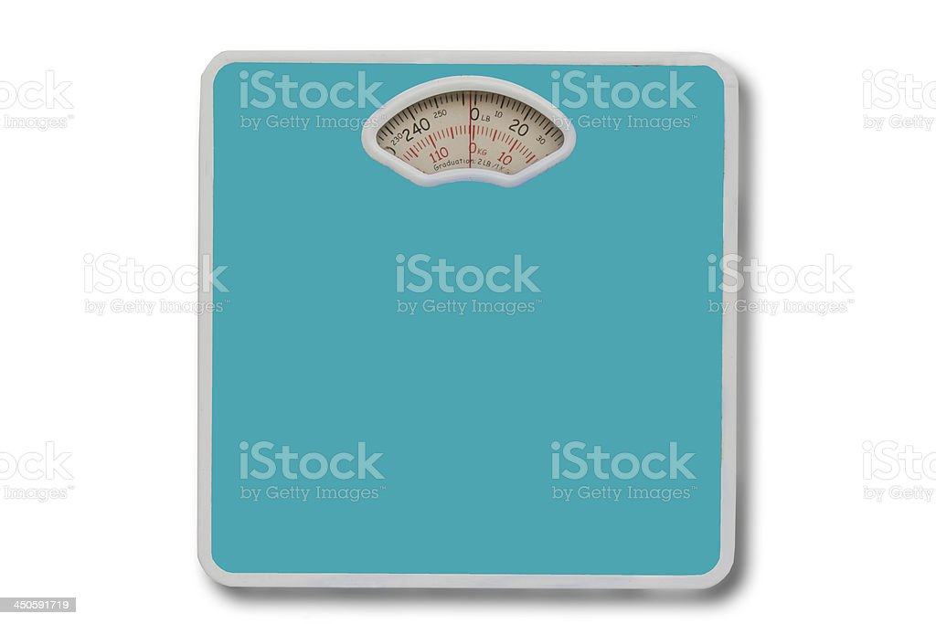 weight scale on isolated. royalty-free stock photo
