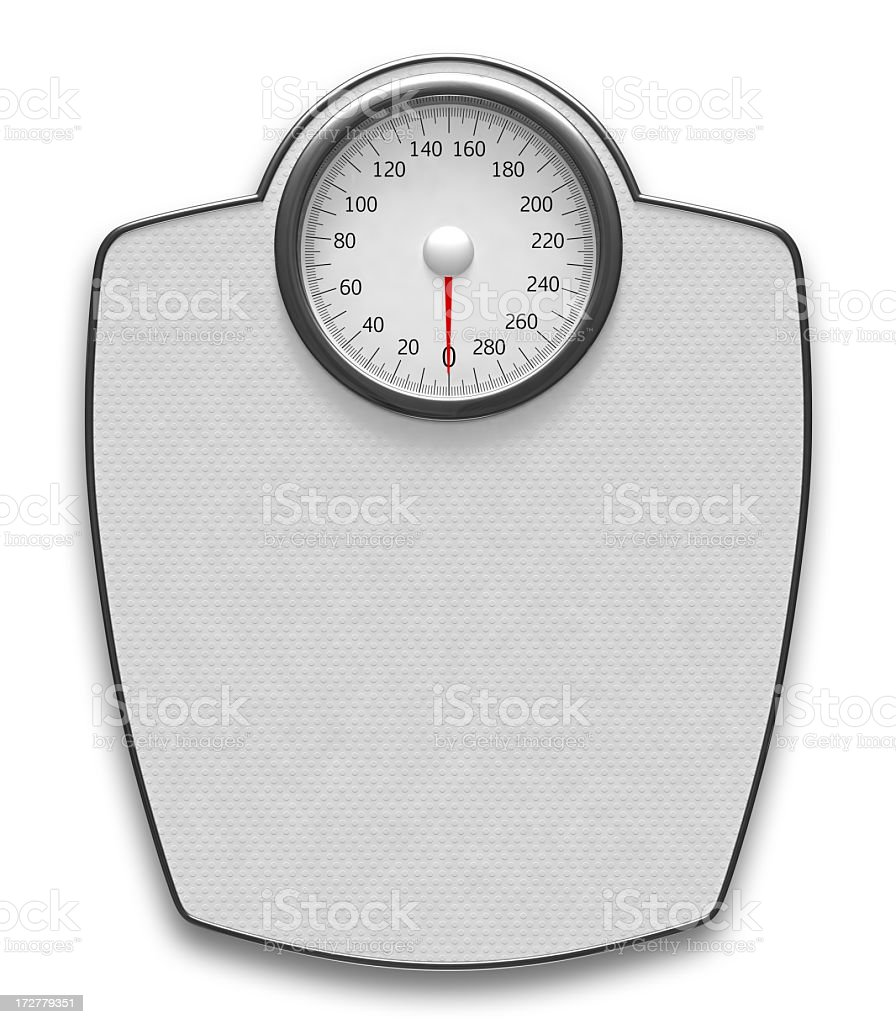 Weight Scale with Clipping Path stock photo