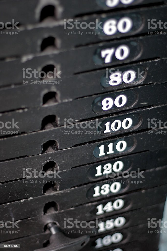 Weight Stack stock photo